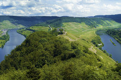 River loop. Of the river mosel in germany Royalty Free Stock Images