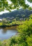 River Lot at Estaing Village Stock Images