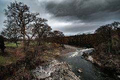 River Lune, Kirkby Lonsdale stock images