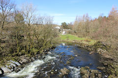 River Lune from Lunes Bridge, Tebay, Cumbria Royalty Free Stock Images