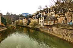 River in Luxembourg Royalty Free Stock Images