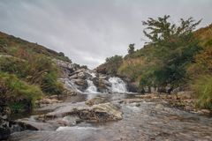 The River Lyd Dartmoor National Park. The Lyd is a river rising at Lyd Head Corn Ridge in NW Dartmoor in the Dartmoor national park in Devon in south-west stock photo