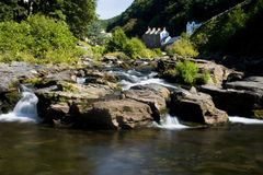 River Lyn in Exmoor. Living along the River Lyn in Lynmouth, Exmoor National Park Stock Photo