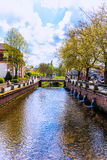 The river Mömling in the center of Erbach (Odenwald), Germany Royalty Free Stock Image