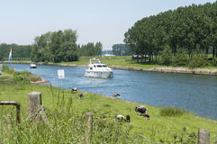 The river maas in holland Stock Images