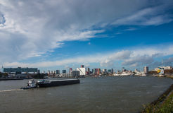 River the maas in rotterdam Stock Photo