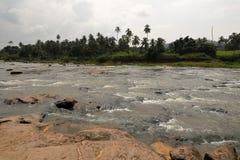 The river Maha Oya in Sri Lanka. The river of Maha Oya in Sri Lanka stock images