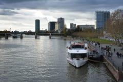 River Main in Frankfurt Royalty Free Stock Photo