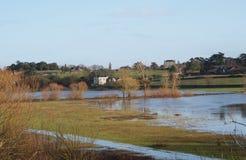 River Maine flood, Anjou, France. River Maine flood, south of Angers Stock Photos