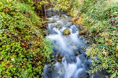 Long exposure of the River Majaceite Royalty Free Stock Photos