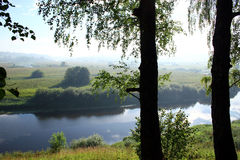 River (Manor Trigorskoe). The view on the river in manor Trigorskoe Royalty Free Stock Photo