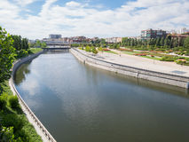 River Manzanares in Madrid city Stock Photography