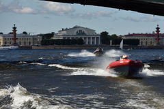 River marathon Oreshek Fortress race in St. Petersburg, Russia Royalty Free Stock Photography