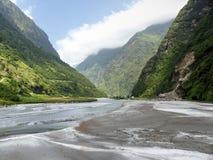 River Marsyangdi near Tal village Royalty Free Stock Photo
