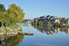 The river Mayenne at Laval in France Royalty Free Stock Photos