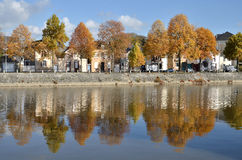 The river Mayenne at Laval in France Stock Photography