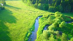 River meanders stock video footage