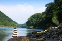 River meditation Stock Photo