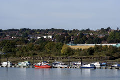 River Medway in Rochester, Medway, England Royalty Free Stock Photography