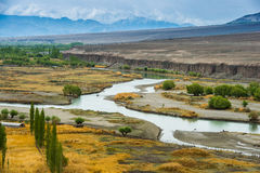 River meeting at Leh Ladakh Stock Image