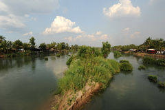 River Mekong between Don Det and Don Khon islands Royalty Free Stock Images