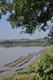 River Mekong Thailand Raft Nature Outdoor Royalty Free Stock Photos