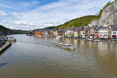 River Meuse in the Belgian City of Dinant Royalty Free Stock Photography