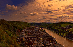 River Meuse in the Belgian City of Dinant Royalty Free Stock Photo