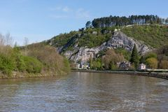 River Meuse in Belgium Ardennes Royalty Free Stock Photography