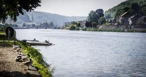 River Meuse, Dinant Stock Photo