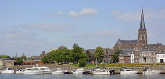 River Meuse in Maastricht Royalty Free Stock Image