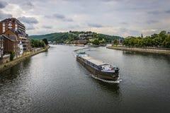 River Meuse through Namur, Belgium Royalty Free Stock Image