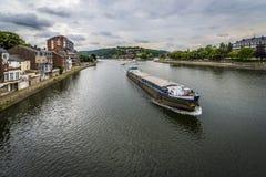 River Meuse through Namur, Belgium Royalty Free Stock Photography