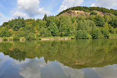 River Meuse valley in Champagne-Ardenne, France Royalty Free Stock Photo