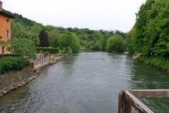 River Mincio. From Borghetto sul Mincio - Valeggio sul Mincio, Verona, Veneto, Italy Royalty Free Stock Image