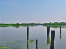River Mincio Thanks to Montanara Mantova.  Royalty Free Stock Image
