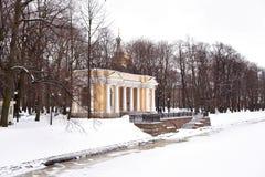 River Moika and Mikhailovsky Garden. Stock Photo