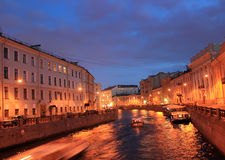 The river Moika, St. Petersburg ,Russia Royalty Free Stock Image