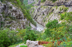 River on Montenegro mountains Royalty Free Stock Images