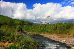 River in Monteverde (Costa Rica). Mountain landscape with a river in Monteverde (Costa Rica Stock Photography