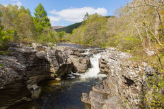 River Moriston falls by Invermoriston bridge Scotland UK Scottish tourist destination Royalty Free Stock Photography