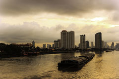 River Morning life in Bangkok Royalty Free Stock Image