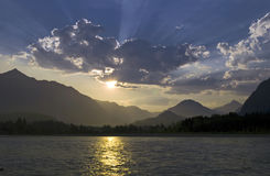 River in the morning scenery Stock Photography