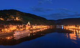 River Moselle at night Stock Photography
