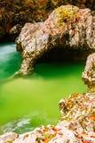 River Mostnica Mostnice Korita and Elephant formation. Near lake Bohinj in Slovenia Stock Photos