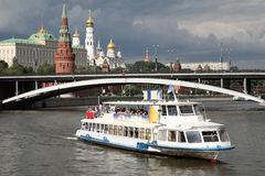 River motor ship in Moscow Stock Photo