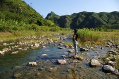 River and Mountain Stock Photography