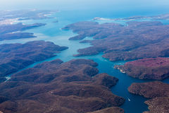 River and mountain  aerial view in  Australia Stock Image