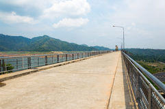 River and mountain backside of Khundanprakanchon dam, Nakhon Nay Stock Image