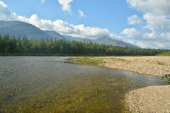 River in mountain forest. Stock Photo